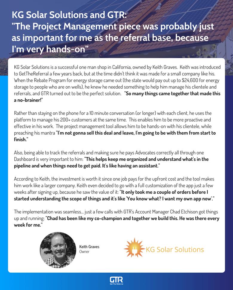 KG Solar Solutions Success Story